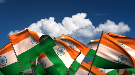 birlik : Waving Indian Flags (seamless & alpha channel)