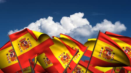 birlik : Waving Spanish Flags (seamless & alpha channel)
