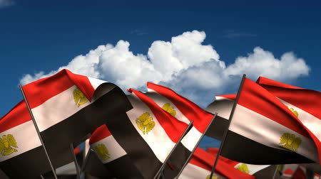 egyiptomi : Waving Egyptian Flags (seamless & alpha channel)