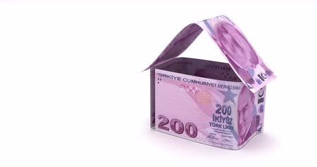 lira : Real Estate with Turkish Lira Stok Video