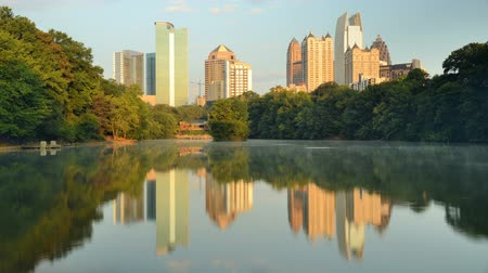 Midtown Atlanta from Piedmont Park Wideo