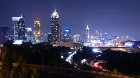 ga : Downtown Atlanta, Georgia, USA above Interstate 85. Stock Footage