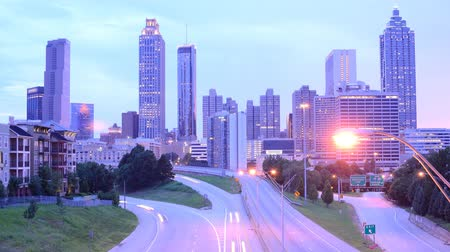 ga : Downtown Atlanta, Georgia, USA above Freedom Parkway.