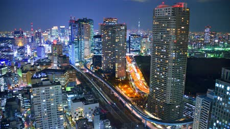 budynki : Famous view of Minato Ward in Tokyo, Japan. Wideo