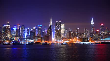 night scene : Midtown Manhattan time lapse