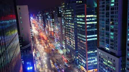 night scene : Gangnam District, Seoul, South Korea