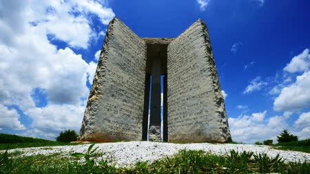 ga : Georgia Guidestones Stock Footage