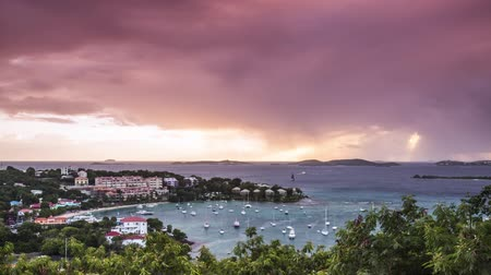 девственница : Cruz Bay, St. John, U.S. Virgin Islands during stormy skies.