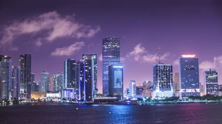 ruch : miami, florida motion time lapse Wideo