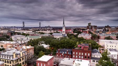 savanne : Savannah, Georgia, USA Innenstadt Skyline der Stadt. Videos