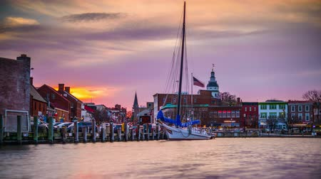 основной : Annapolis Maryland USA Стоковые видеозаписи