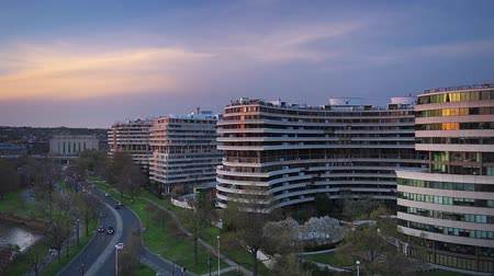 WASHINGTON D.C.  APRIL 11 2015: The Watergate Complex in Foggy Bottom. The complex became well known in the wake of the Watergate Scandal which led to President Richard Nixons resignation in 1974.