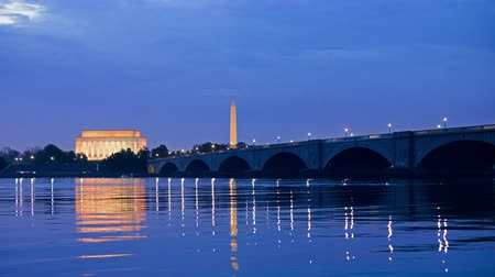 Washington DC monuments on the Potomac river.
