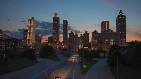 ga : Atlanta, Georgia, USA Skyline over Freedom Parkway.