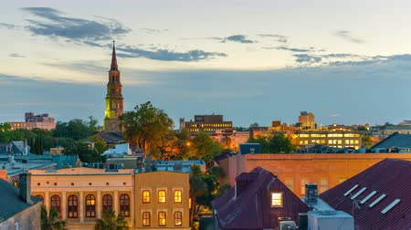 sc : Charleston, South Carolina, USA downtown time lapse.