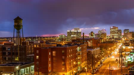 richmond park : Richmond, Virginia, USA downtown skyline time lapse over Main Street. Stock Footage