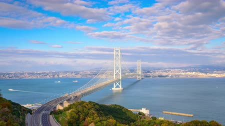 akashi strait : Akashi Kaikyo Ohashi Bridge in Kobe, Japan.