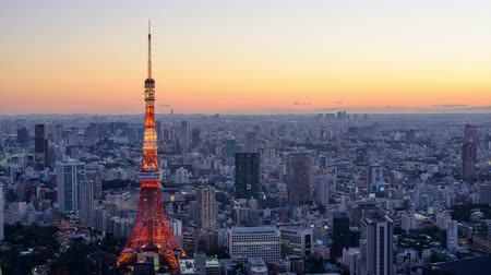 tokio : Tokyo, Japan skyline time lapse at the tower. Wideo