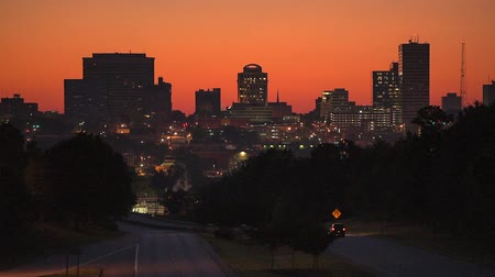délre : Skyline of downtown Columbia, South Carolina from above Jarvis Klapman Blvd. Stock mozgókép