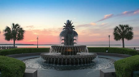 sc : Charleston, South Carolina, USA at the Waterfront Park Pineapple Fountain.