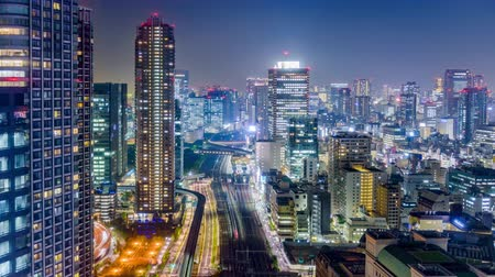 kanto district : Tokyo, Japan cityscape time lapse. Stock Footage