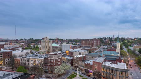 ga : Macon, Georgia, USA downtown skyline time lapse. Stock Footage
