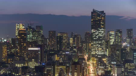 kanto district : Tokyo, Japan financial district cityscape time lapse in Minato Ward.