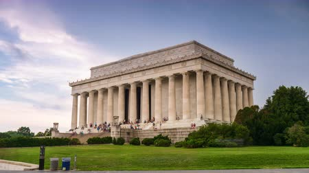gedenksteen : Lincoln Memorial in Washington DC, USA.