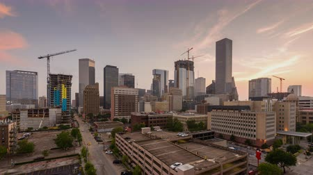 lapse : Houston, Texas, USA downtown skyline time lapse.