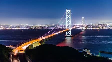 akashi strait : Akashi Kaikyo Bridge in Kobe, Japan.