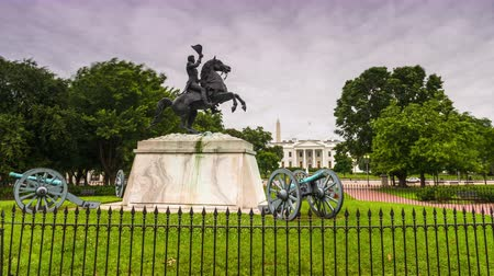 lafayette : Washington, DC at the White House and Lafayette Square. Stock Footage