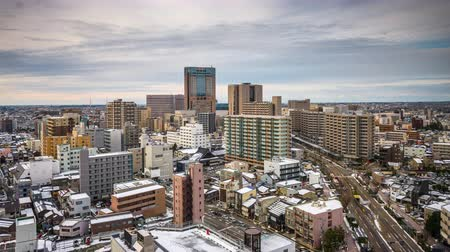 Kanazawa, Japan downtown skyline time lapse. Wideo
