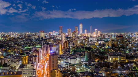 kanto district : Tokyo, Japan skyline time lapse towards Shibuya.