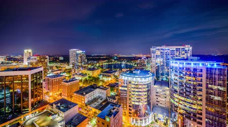 Orlando, Florida, USA downtown skyline time lapse. Wideo