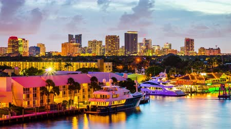 Fort Lauderdale, Florida, USA skyline. Wideo