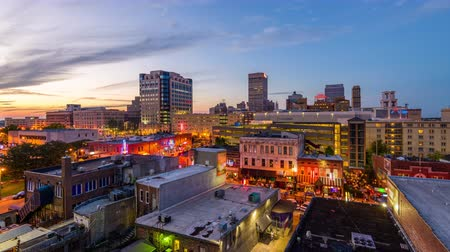 Memphis, Tennessee, USA downtown skyline. Wideo
