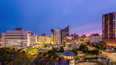 kanto district : Hamamatsu City, Japan skyline at twilight. Stock Footage