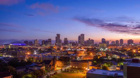New Orleans, Louisiana, USA downtown skyline at dawn.