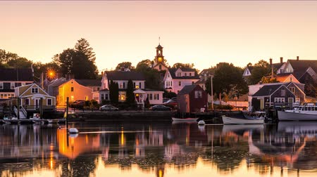 Portsmouth, New Hampshire, USA townscape. Wideo