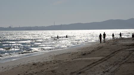 People enjoying the sea in the summer