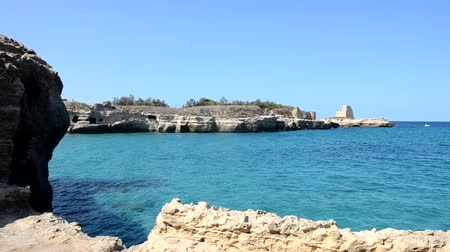 View of the seaside of the Apulia Dostupné videozáznamy