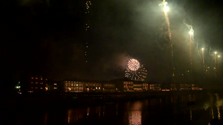 The New Years Eve celebrations over the Arno river