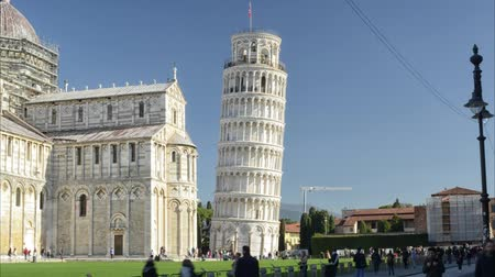 Leaning tower of Pisa seen in timelapse