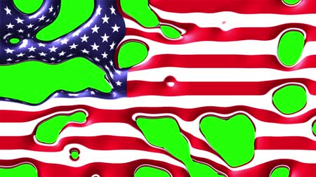 skvrny : liquid paint splatter usa flag dissolving and appearing on chroma key green screen new quality unique cartoon animation dynamic joyful cool video footage Dostupné videozáznamy