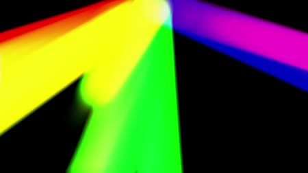 áttekinthetőség : rainbow color light leak moving in black space New quality universal motion dynamic animated colorful joyful dance music video footage loop Stock mozgókép