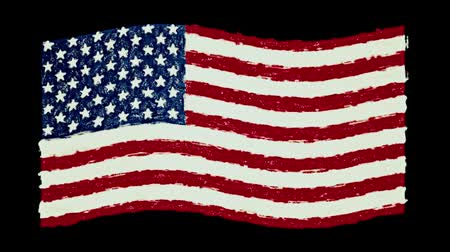 governo : USA America pastel flag waving seamless loop new quality unique animated dynamic motion joyful colorful cool background video footage Vídeos