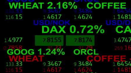 číslo : forex stock market index commodity ticker board news line on black background - new quality financial business animated dynamic motion video footage Dostupné videozáznamy