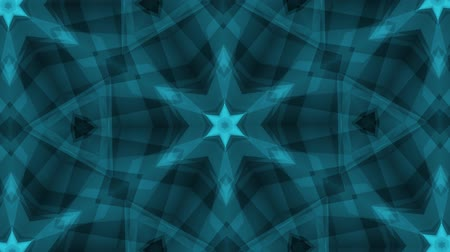 row : ornamental geometric kaleidoscope light show star moving pattern blue New quality universal motion dynamic animated colorful joyful dance music video footage