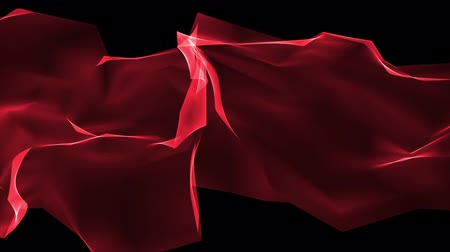 ícone do computador : digital polygon soft silk ribbon gentle waving red abstract background - new dynamic technology art motion colorful video footage Stock Footage