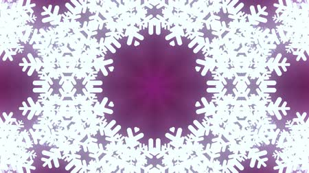универсальный : kaleidoscope large snowflake animation background seamless loop - New quality shape universal motion dynamic animated colorful joyful holiday music video footage